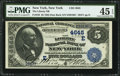 National Bank Notes:New York, New York, NY - $5 1882 Date Back Fr. 533 The Liberty NB Ch. # (E)4645. ...
