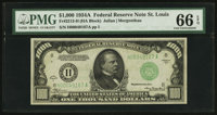 Fr. 2212-H $1,000 1934A Federal Reserve Note. PMG Gem Uncirculated 66 EPQ