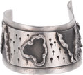 Silver Smalls, A Fred Skaggs Modernist Silver Cuff, circa 1960-1980. Marks: H.FRED SKAGGS, STERLING (artist's cipher), HAND MADE. ...
