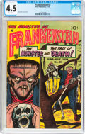 Golden Age (1938-1955):Horror, Frankenstein Comics #31 (Prize, 1954) CGC VG+ 4.5 Off-whitepages....