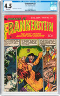 Golden Age (1938-1955):Horror, Frankenstein Comics #32 (Prize, 1954) CGC VG+ 4.5 Off-whitepages....