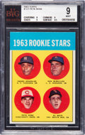 Baseball Cards:Singles (1960-1969), 1963 Topps Pete Rose - 1963 Rookie Stars #537 BVG Mint 9 - NoneHigher....