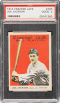 "Baseball Cards:Singles (Pre-1930), 1914 Cracker Jack Joe Jackson #103 PSA Good 2 - The Nicest ""2"" onthe Planet! ..."