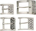 Silver Smalls:Buckles, A Group of Four Victoria Mexican Silver Belt Buckles, Taxco, circa1948-1975. Marks: VICTORIA, MEXICO, TAXCO, STERLING (...(Total: 4 Items)