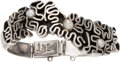 Silver Smalls, A Salvador Terán Mexican Silver and Pearl Bracelet, Mexico City,circa 1955-1970. Marks: Salvador, STERLING, MEXICO, 193, ...