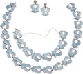 Silver Smalls, A Margot de Taxco Mexican Enameled Silver Necklace, Bracelet andEarring Jewelry Suite, Taxco, circa 1955-1978. Marks: MAR...(Total: 4 Items)