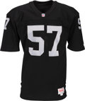 Football Collectibles:Uniforms, 1991 Jerry Robinson Game Worn Los Angeles Raiders Jersey....