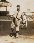 Baseball Collectibles:Photos, 1910's Walter Johnson Original News Photograph by Charles Conlon,PSA/DNA Type 1....