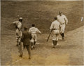Baseball Collectibles:Photos, 1927 Babe Ruth 60th Home Run Original News Photograph, PSA/DNA Type1....