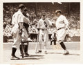 "Baseball Collectibles:Photos, 1933 Babe Ruth and Lou Gehrig ""1st Major League All Star Game""Original News Photograph, PSA/DNA Type 1...."