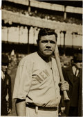 Baseball Collectibles:Photos, Early 1920's Babe Ruth Original News Photograph, PSA/DNA Type 1....
