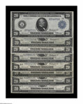 Large Size:Group Lots, Eight 1914 Twenty Dollar Feds from Eight Different Districts. Fr. 964 Boston, 974 Philadelphia, 979b Cleveland, 989 Chicago,... (Total: 8 notes)