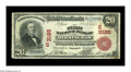 National Bank Notes:Alabama, Birmingham, AL - $20 1902 Red Seal Fr. 639 The First NB Ch. # (S)3185. An attractive and vividly colored $20 Red Seal wh...