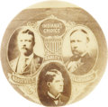 "Political:Pinback Buttons (1896-present), Theodore Roosevelt: An Exceedingly Rare 7/8"" Trigate Coat-tailButton from 1904. ..."