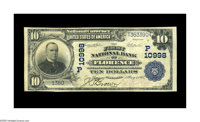 Florence, AZ - $10 1902 Plain Back Fr. 632 The First NB Ch. # (P)10998 An extraordinary new discovery from an excessive...