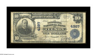 Tucson, AZ - $10 1902 Plain Back Fr. 628 The Consolidated NB Ch. # 4287 A more than decent large size note from a state...