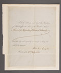 Autographs:U.S. Presidents, ABRAHAM LINCOLN PARTLY PRINTED DOCUMENT SIGNED AS PRESIDENT....