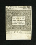 Colonial Notes:Connecticut, Connecticut June 1, 1780 20s Choice New, CC. ...