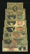 Fractional Currency:Group Lots, Low-Grade Fractionals.... (Total: 7 notes)