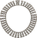 Silver Smalls, A Los Castillo Mexican Silver Necklace, Taxco, circa 1940-1945.Marks: LOS CASTILLO, TAXCO, 980. 15 inches long (38.1 cm...