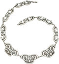 Silver Smalls, A Mexican Silver Necklace, circa 1930-1948. Marks: 980, TAXCO,RG. 21-1/2 inches long (54.6 cm). 2.55 troy ounces. ...