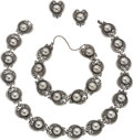 Silver Smalls, A Margot de Taxco Mexican Silver Necklace, Bracelet and EarringJewelry Suite, Taxco, circa 1955-1978. Marks: MARGOT DE TA...(Total: 4 Items)
