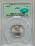 Liberty Nickels, 1903 5C MS66+ PCGS. CAC....