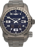 Timepieces:Wristwatch, Breitling Titanium Emergency E76325U1/BC02, Complete Set. ...