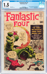Fantastic Four #1 (Marvel, 1961) CGC FR/GD 1.5 Off-white to white pages