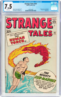 Strange Tales #107 (Marvel, 1963) CGC VF- 7.5 White pages