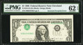 Error Notes:Inverted Third Printings, Fr. 1914-D $1 1988 Federal Reserve Note. PMG Uncirculated 62 EPQ.....