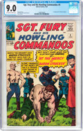 Silver Age (1956-1969):War, Sgt. Fury and His Howling Commandos #5 (Marvel, 1964) CGC VF/NM 9.0 Off-white to white pages....
