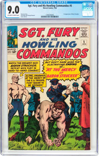 Sgt. Fury and His Howling Commandos #5 (Marvel, 1964) CGC VF/NM 9.0 Off-white to white pages