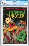 Golden Age (1938-1955):Horror, The Unseen #9 (Standard, 1953) CGC VG+ 4.5 Off-white pages....
