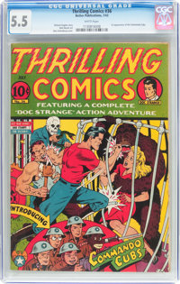 Thrilling Comics #36 (Better Publications, 1943) CGC FN- 5.5 White pages