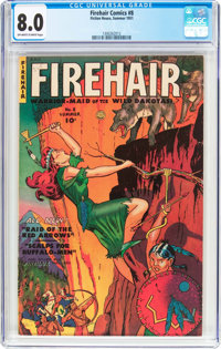 Firehair Comics #8 (Fiction House, 1951) CGC VF 8.0 Off-white to white pages