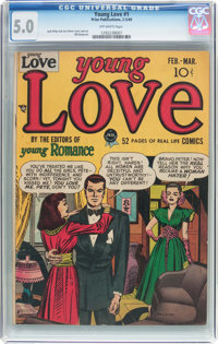 Young Love #1 (Prize, 1949) CGC VG/FN 5.0 Off-white pages