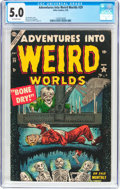 Golden Age (1938-1955):Horror, Adventures Into Weird Worlds #29 (Atlas, 1954) CGC VG/FN 5.0Off-white pages....