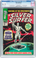 Silver Age (1956-1969):Superhero, The Silver Surfer #1 (Marvel, 1968) CGC FN+ 6.5 Off-white to white pages....