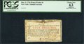 Colonial Notes:New York, New York March 5, 1776 (Water Works) 4s PCGS Apparent Choi...