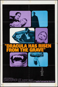 "Dracula Has Risen from the Grave (Warner Brothers, 1969). International One Sheet (27"" X 41"") & Uncut..."