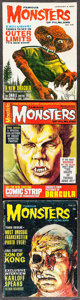 "Movie Posters:Horror, Famous Monsters of Filmland (Central Publications, 1963 - 1968).Magazines (3) (Multiple Pages, 8.5"" X 11""). Horror.. ... (Total: 3Items)"