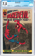 Silver Age (1956-1969):Superhero, Daredevil #16 (Marvel, 1966) CGC VF- 7.5 Off-white pages....