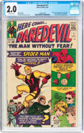 Silver Age (1956-1969):Superhero, Daredevil #1 (Marvel, 1964) CGC GD 2.0 Off-white pages....