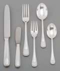 Silver & Vertu:Flatware, A Sixty One-Piece Buccellati Italian Feathered Edge Pattern Silver Flatware Service for Twelve, Milan, 20th cent... (Total: 61 )