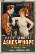 "Movie Posters:Western, Ashes of Hope (Triangle, 1917). One Sheet (27"" X 41"") Style A.Western.. ..."