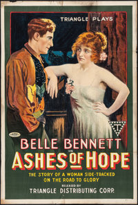 "Ashes of Hope (Triangle, 1917). One Sheet (27"" X 41"") Style A. Western"