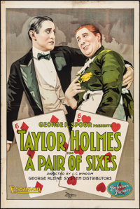 """A Pair of Sixes (Essanay, 1918). One Sheet (28"""" X 42""""). Comedy"""