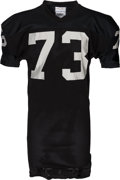 Football Collectibles:Uniforms, 1983-85 Charlie Hannah Game Worn Los Angles Raiders Jersey....