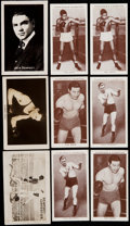 "Boxing Cards:General, 1923 The Rocket Boxing Complete Set, 1938 WA & AC ChurchmanBoxing Complete Sets (2) Plus Four 1922 ""Boys' Friend"" BoxingCard..."